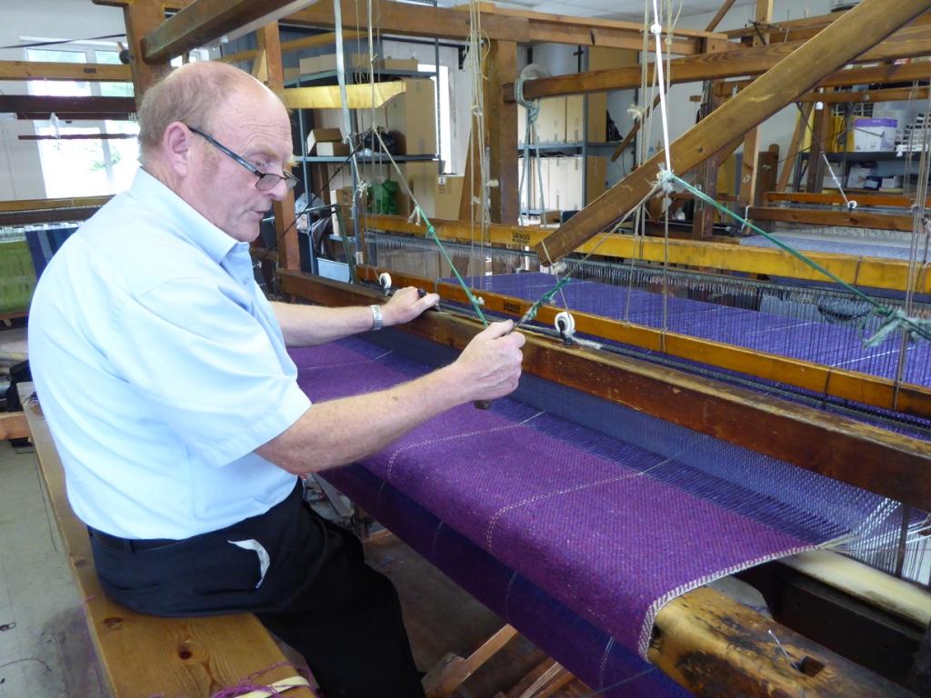Master weaver John Heena at Studio Donegal