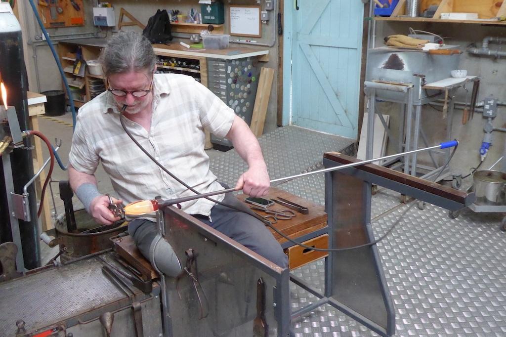 Scott Benefield in his studio