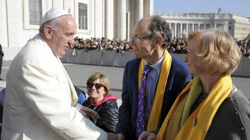 Meeting the Pope in 2016