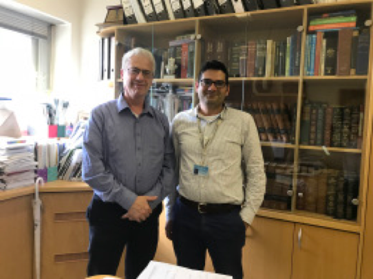 Professor Tamir Benhur, chair Neurology and Dr. David Arkadir, Hadassah Medical Center