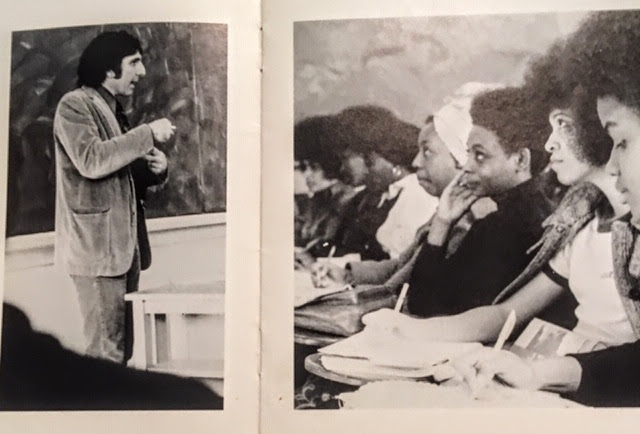 My dad, Don McCormack teaching a class at Skidmore College 1971