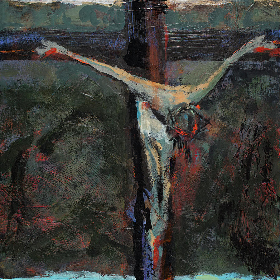 """Jesus Dies on the Cross"" Jen Norton,  https://fineartamerica.com/featured/station-12-jesus-dies-on-the-cross-jen-norton.html"