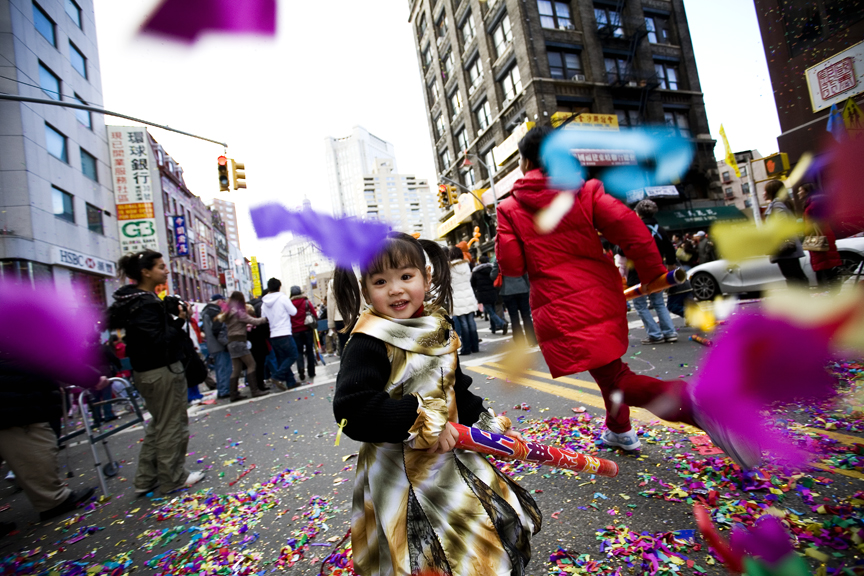 Lunar New Year celebrations in New York. Photo: Raymond, made available by a Creative Commons license via Flickr.