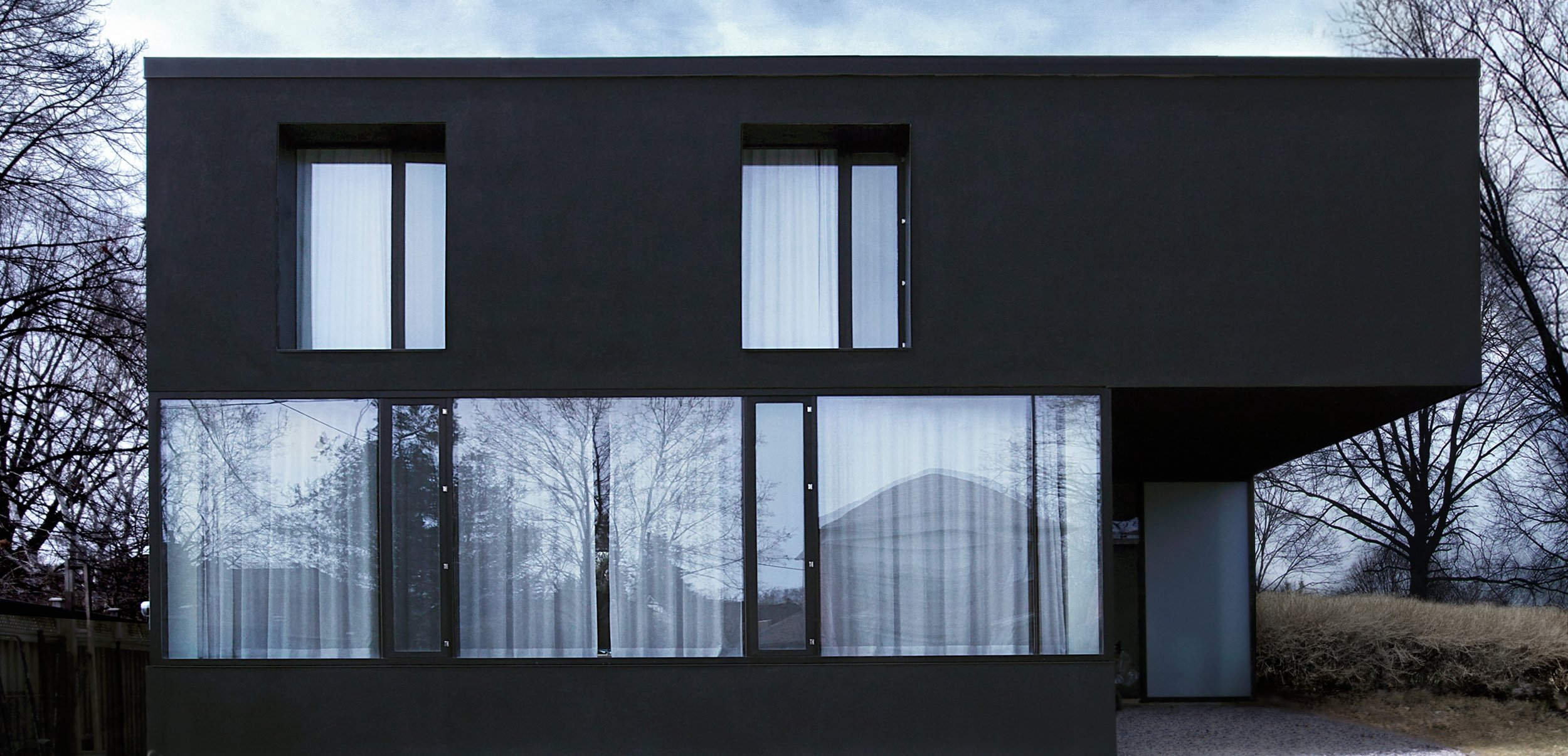 House 60 - front daytime windows closed facade elevation