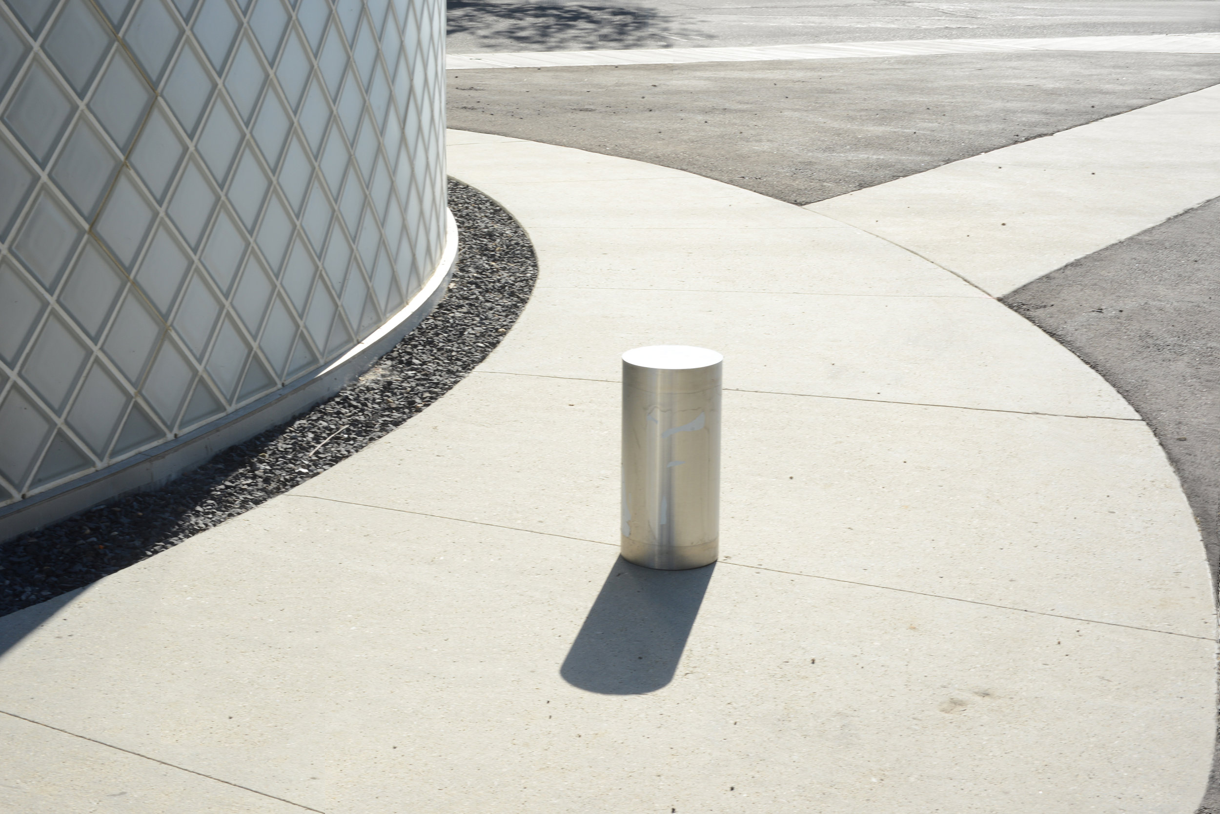 Copy of Copy of RTC -  bollard and facade close up, sidewalk  and path view