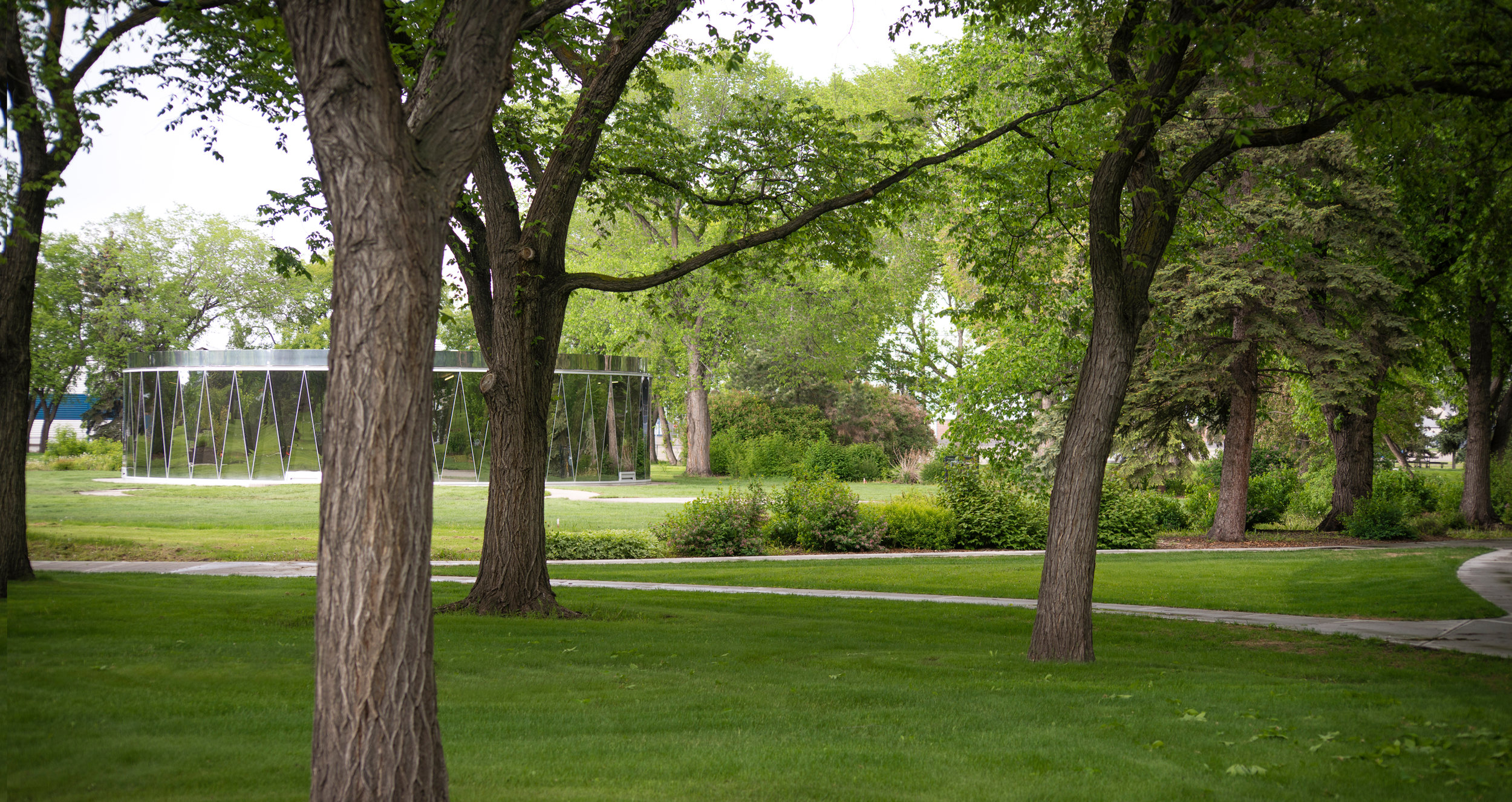 Borden Park - Exterior View with trees