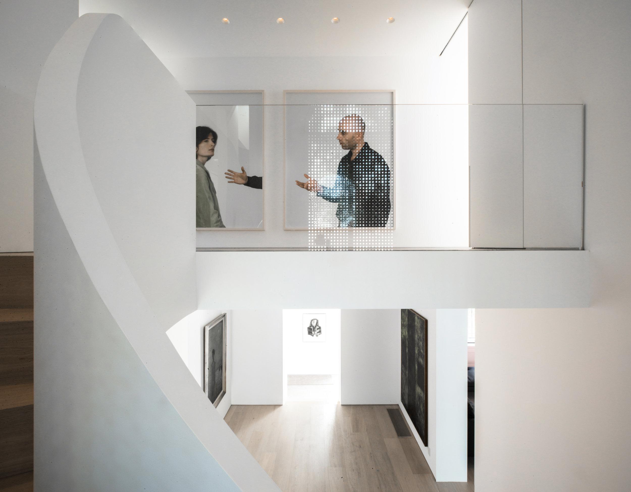 Copy of Street House - stair atrium glass railing