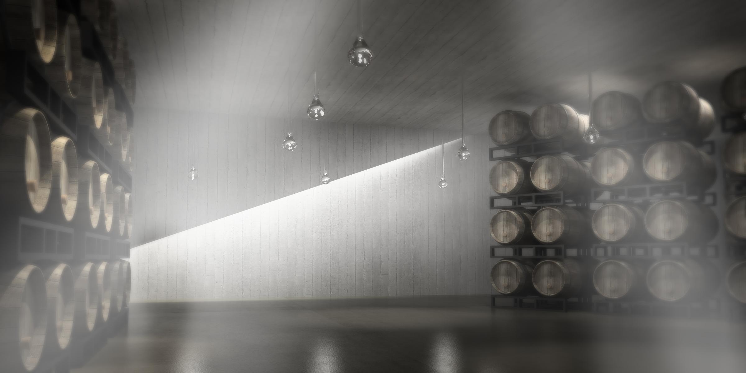 Pearl Morrisette Winery - Interior Cellar Vineyard Barrels