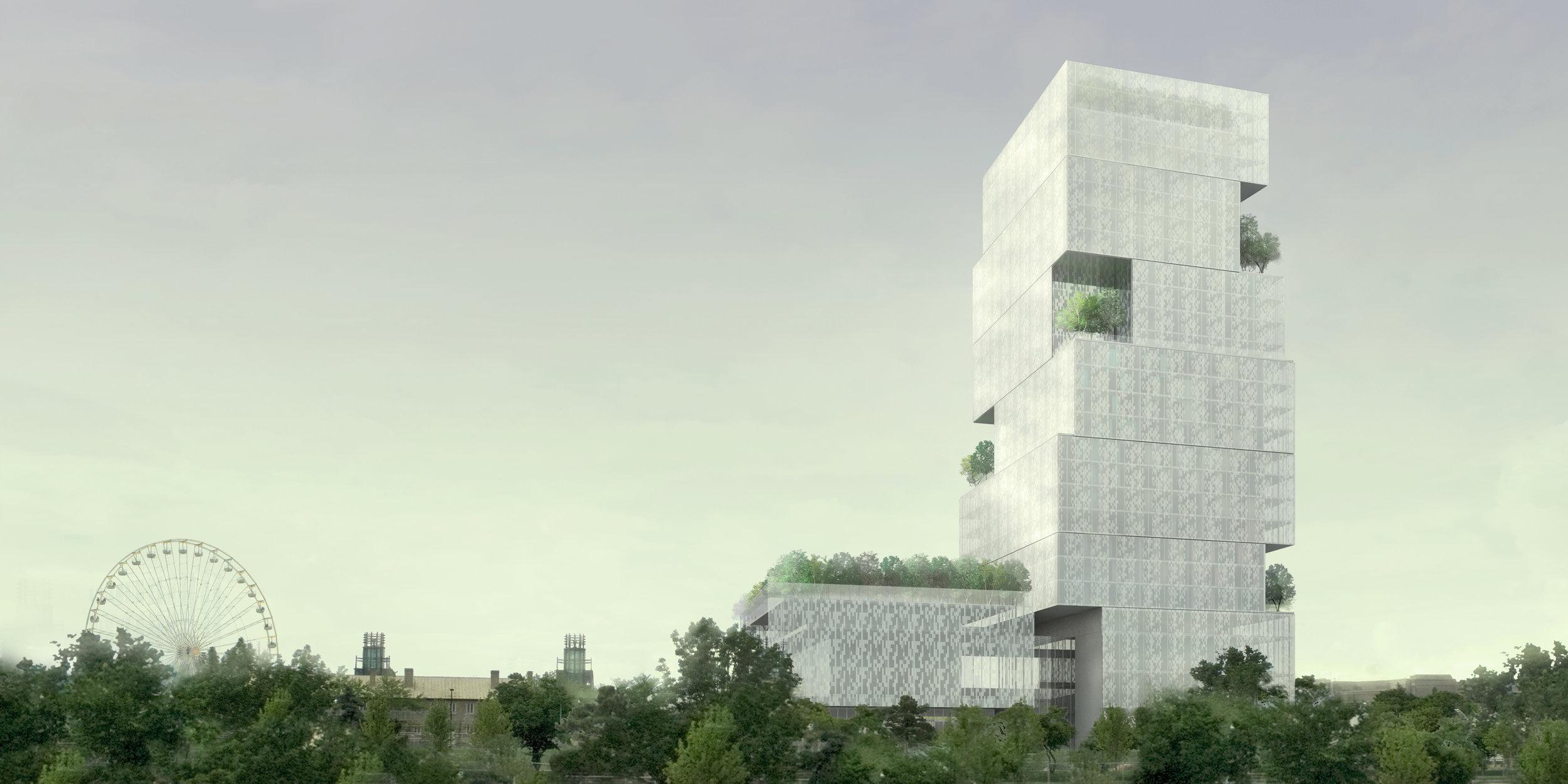 CNE Hotel - trees ferris wheel tower
