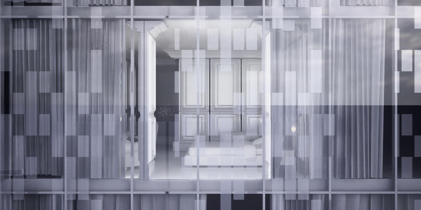 CNE Hotel - window exterior bedroom blinds