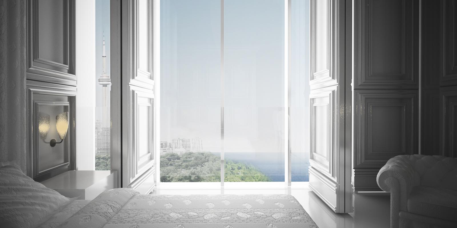 CNE Hotel - Interior window bedroom lake view