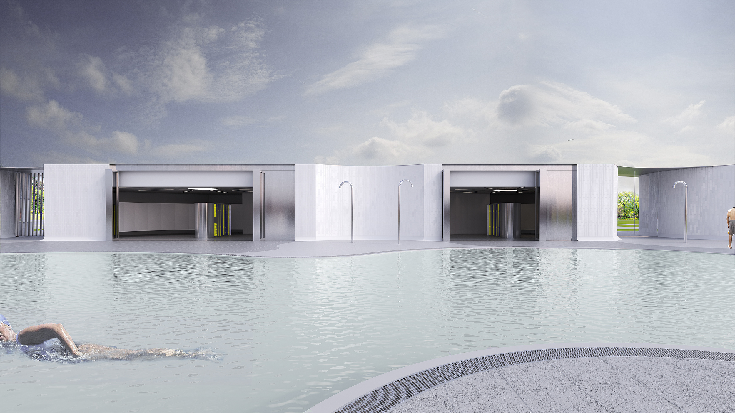 Natural Swim Experience - View across Pool