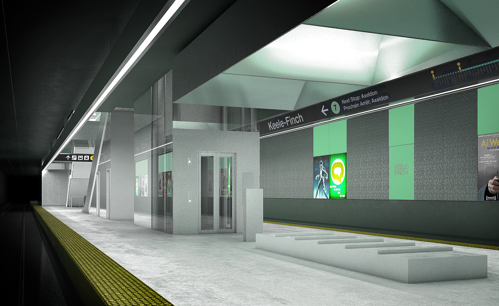 Finch West LRT DX - Station Platform