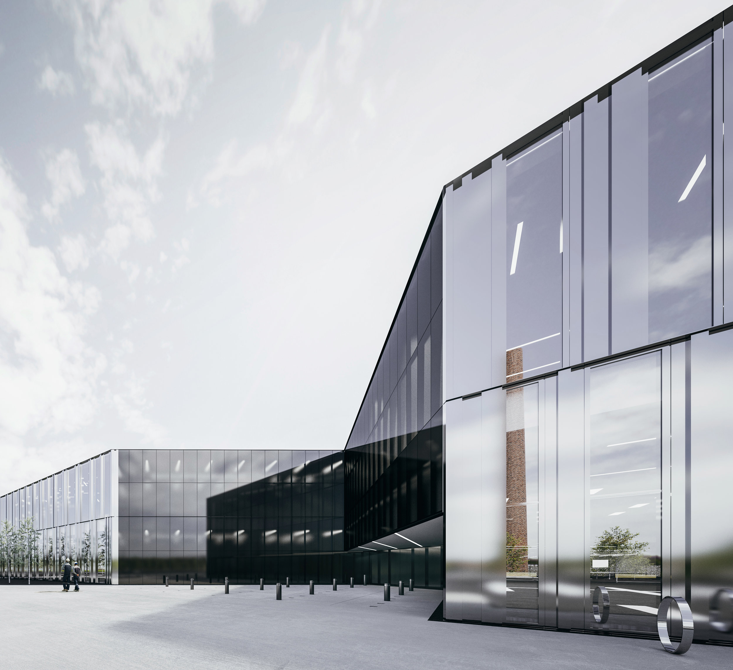 North East Transit Garage - Office Building Entrance