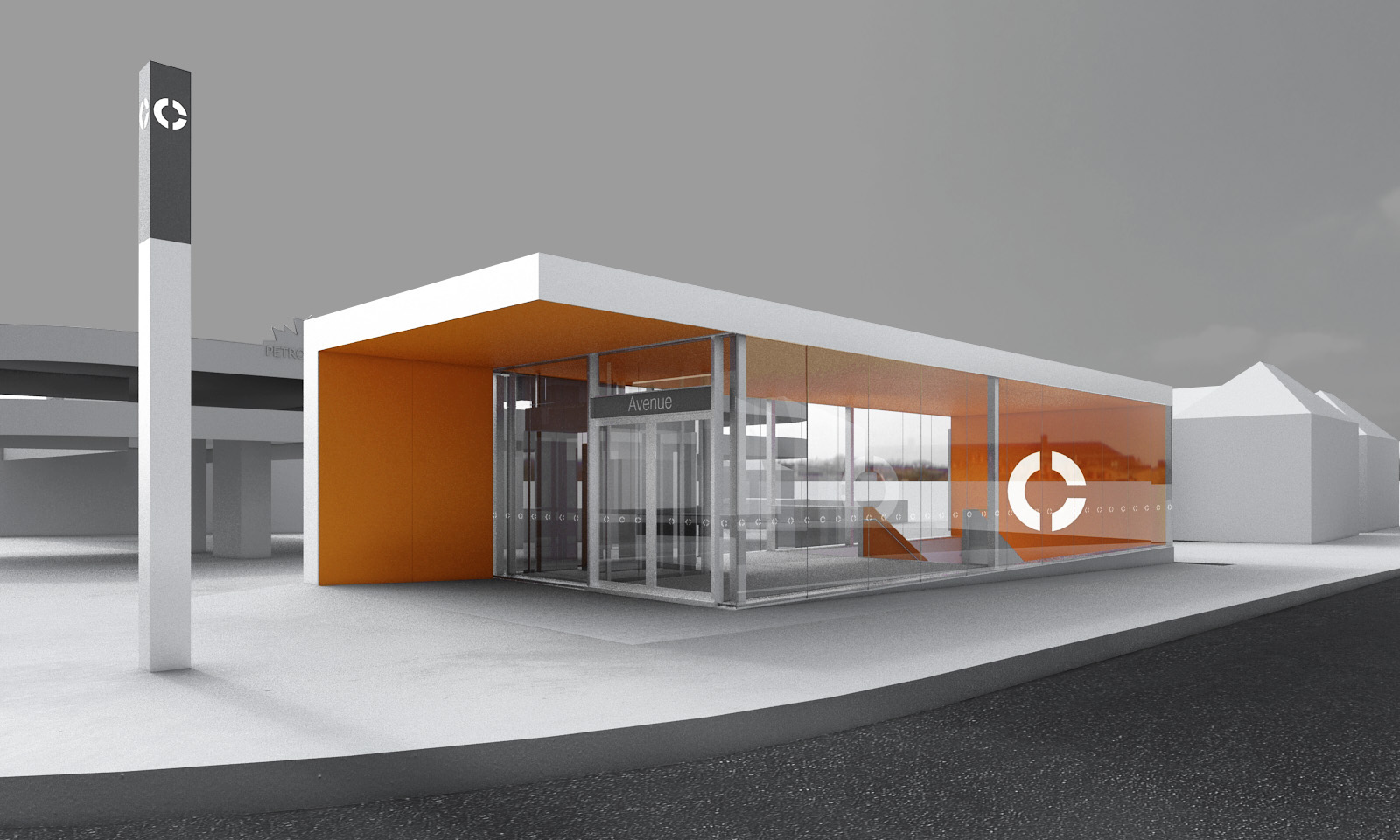 Eglinton Crosstown LRT DX - Station Secondary Entrance