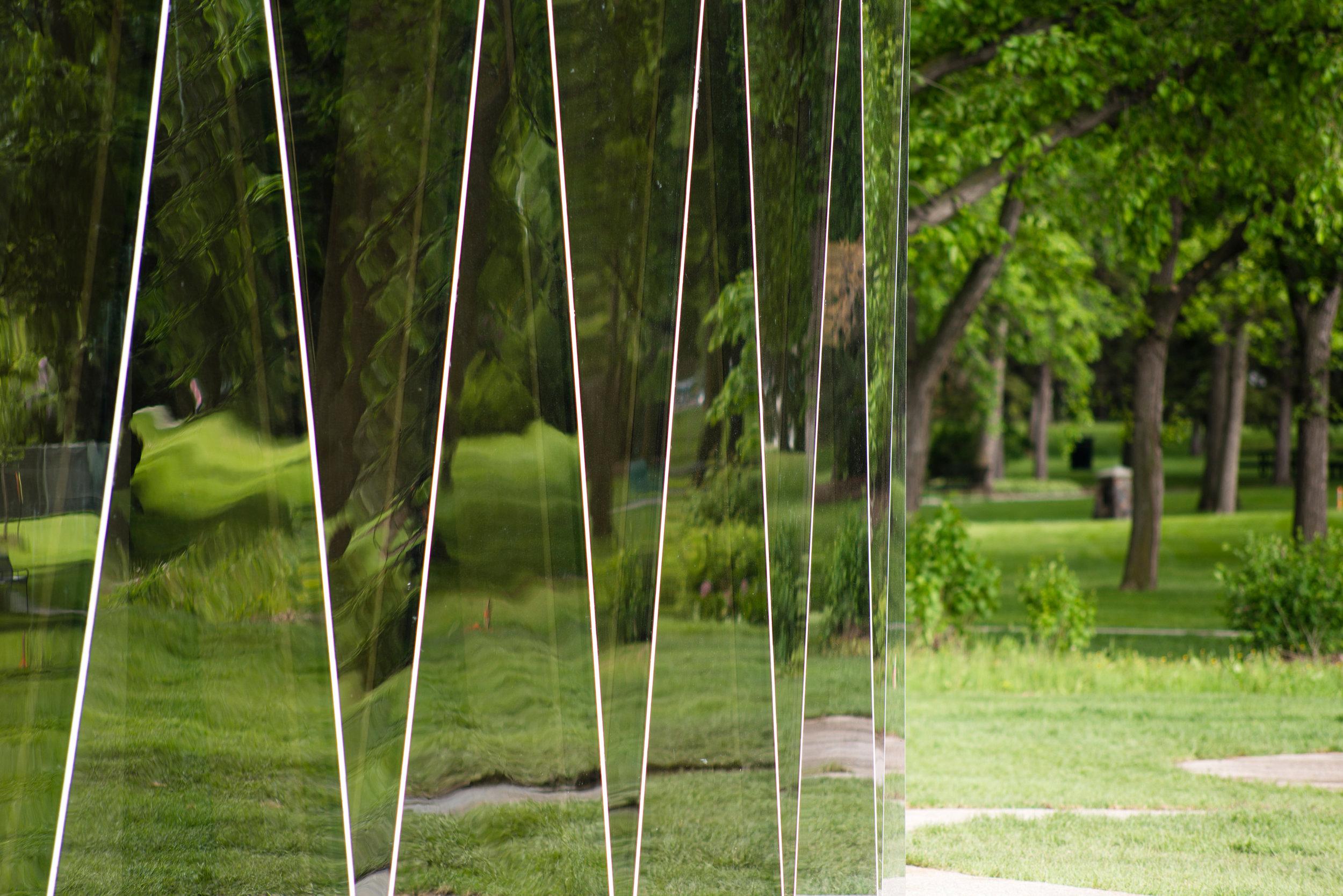 Borden Park - mirrored glass exterior detail