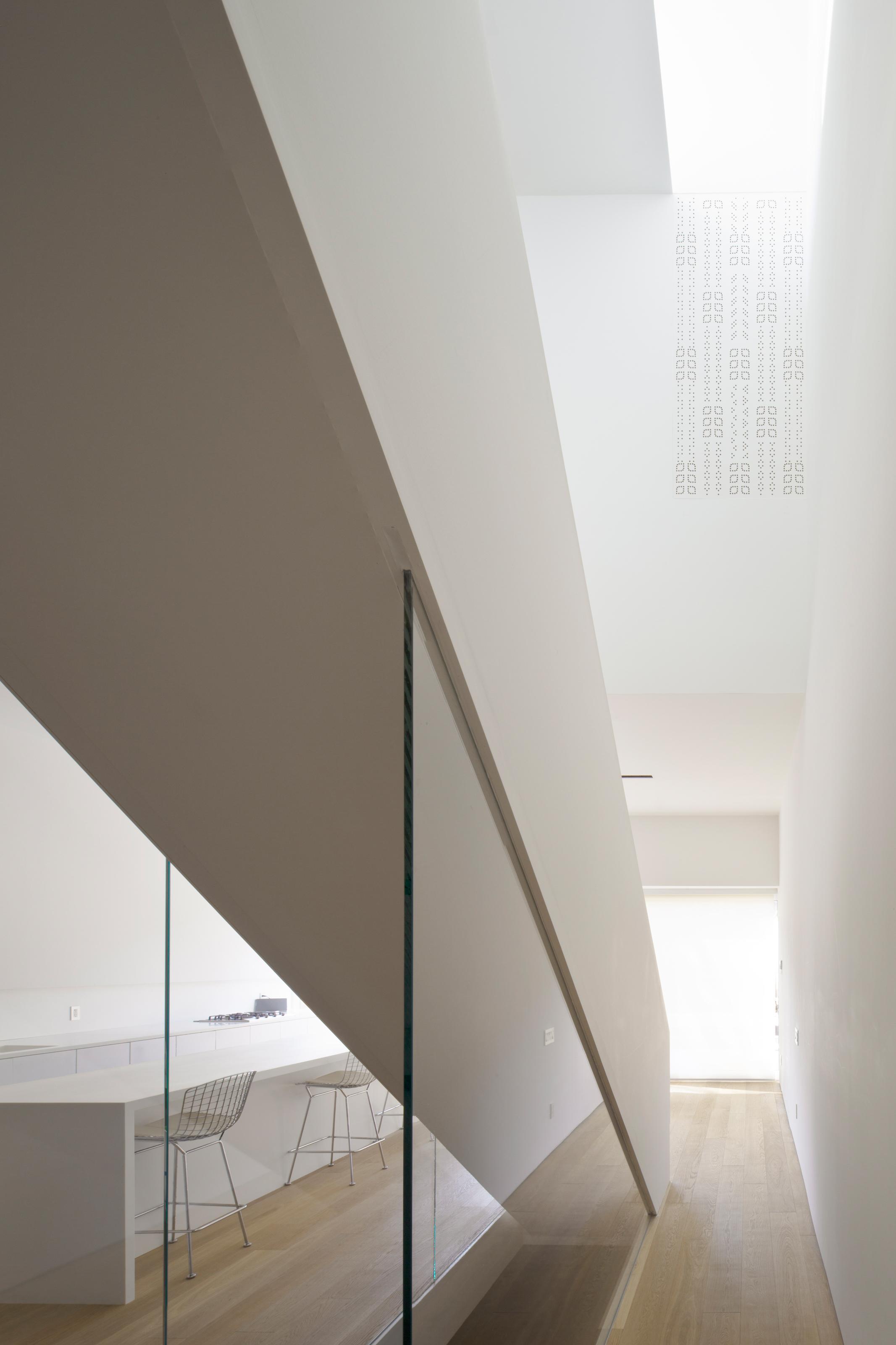 Robert House - Stair interior glass fritt
