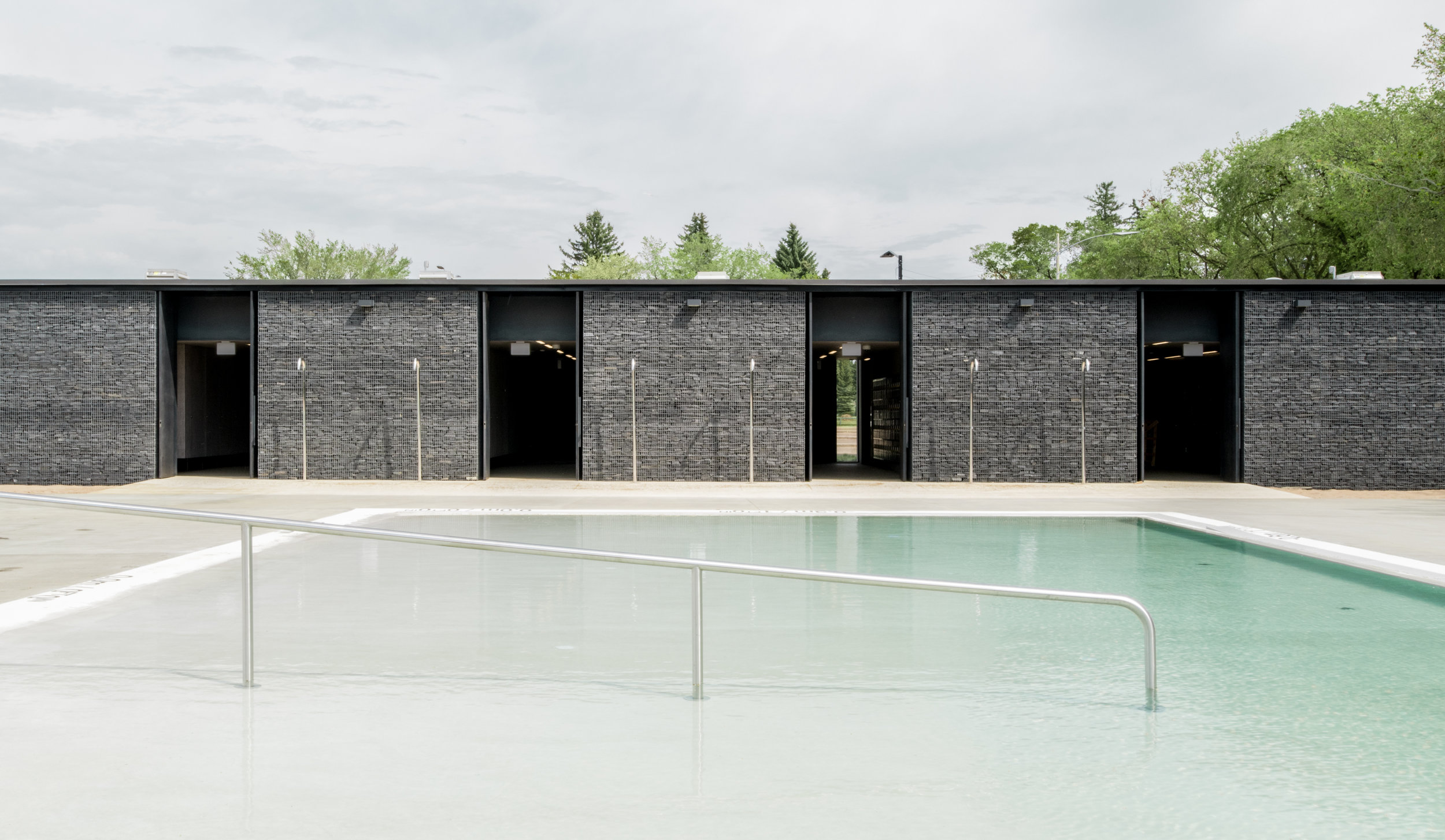 gh3 - Borden Park Natural Swimming Pool - Building Elevation wit