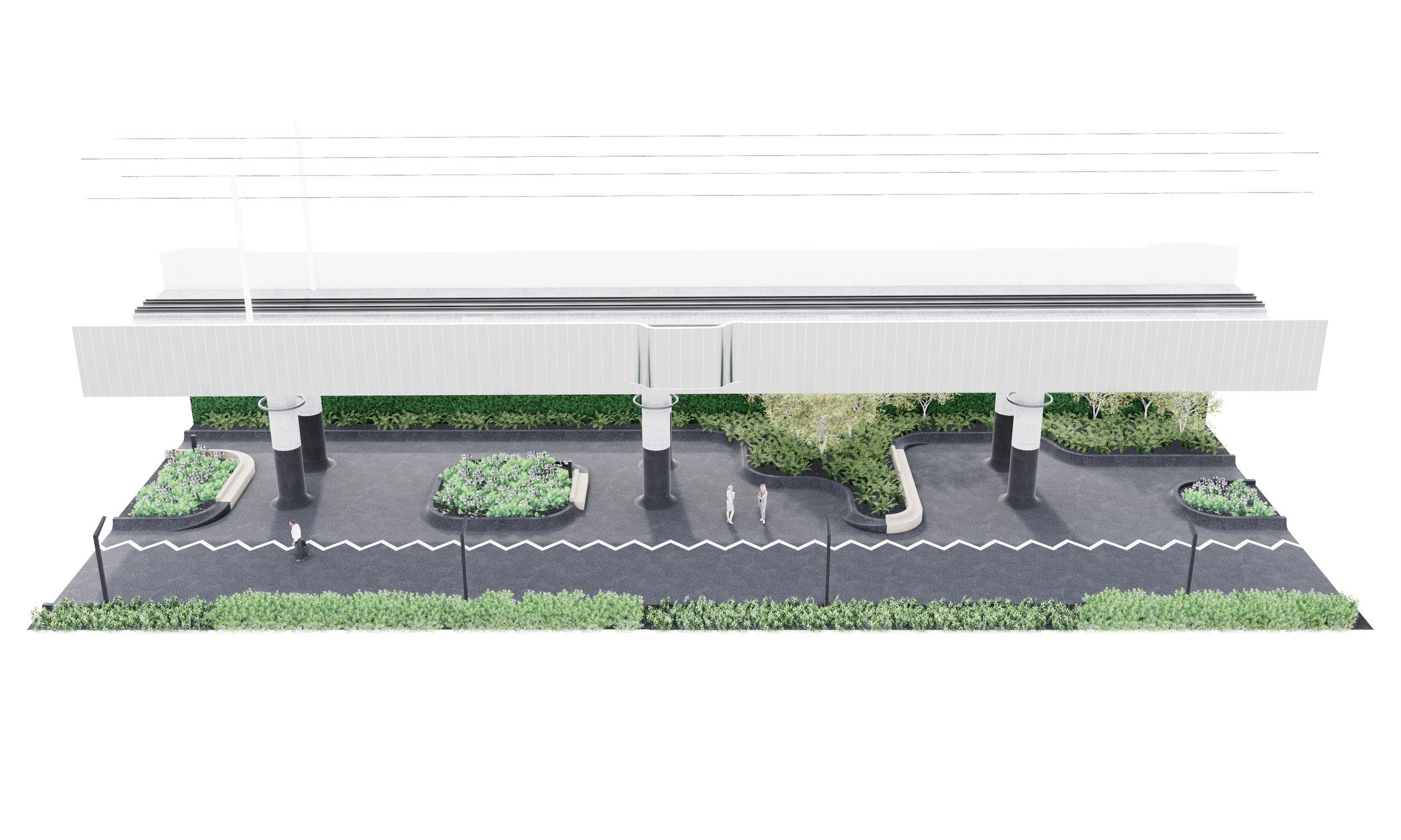 Davenport Diamond -  Aerial Diagram - Walks+Gardens