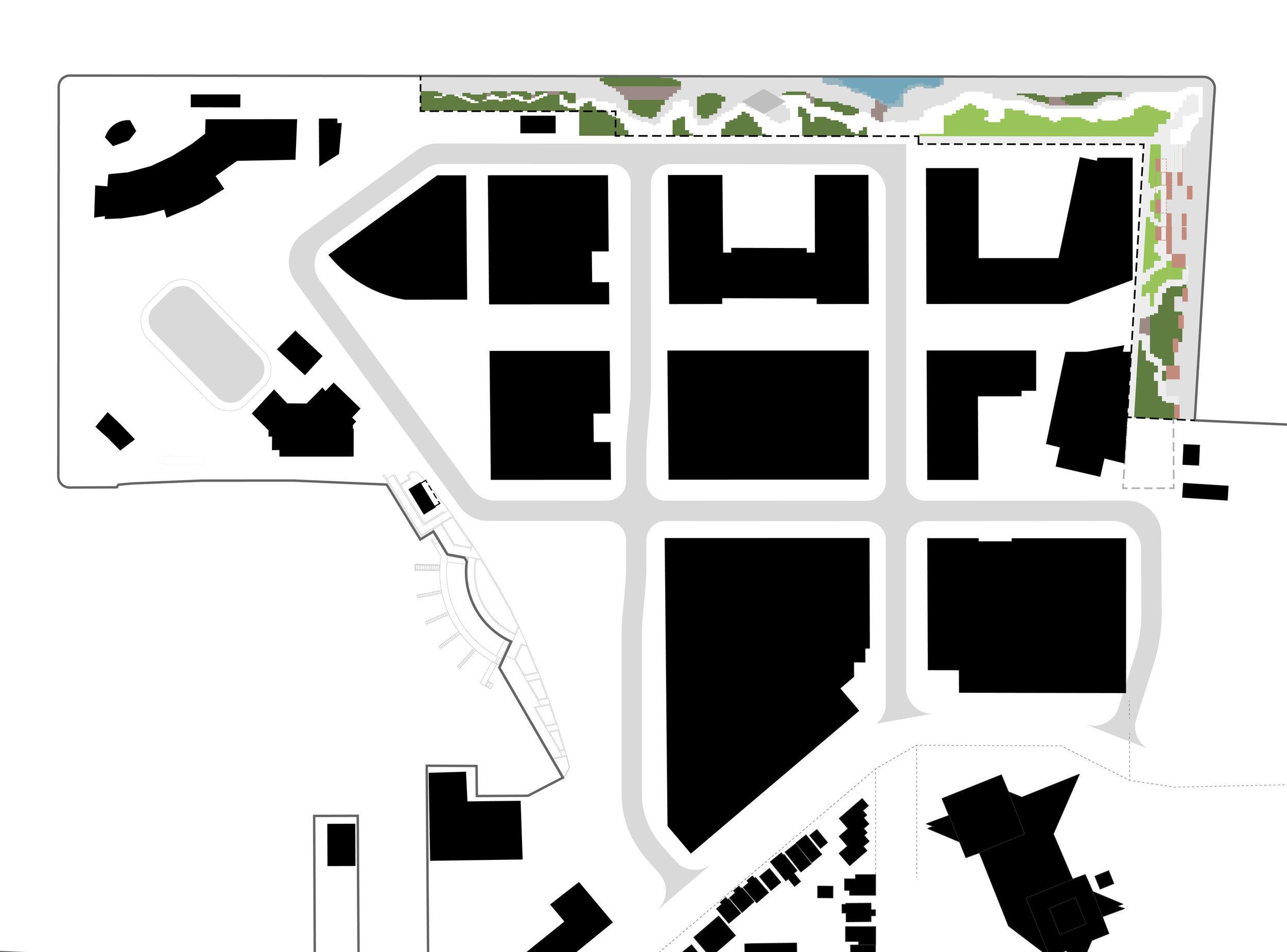 Pier 8 Promenade Park - nolli plan, context diagram