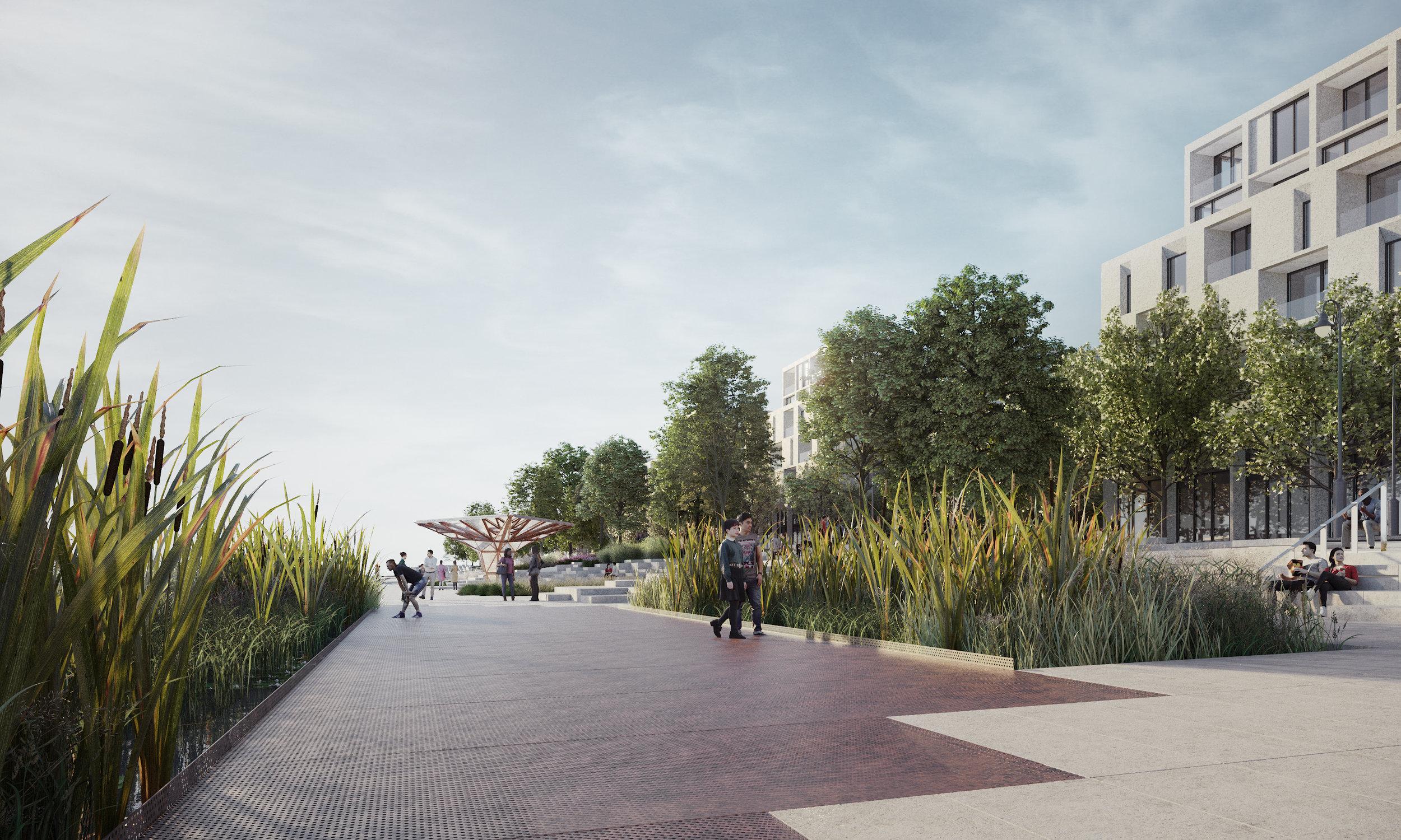 Pier 8 Promenade Park - Marsh - Eye level