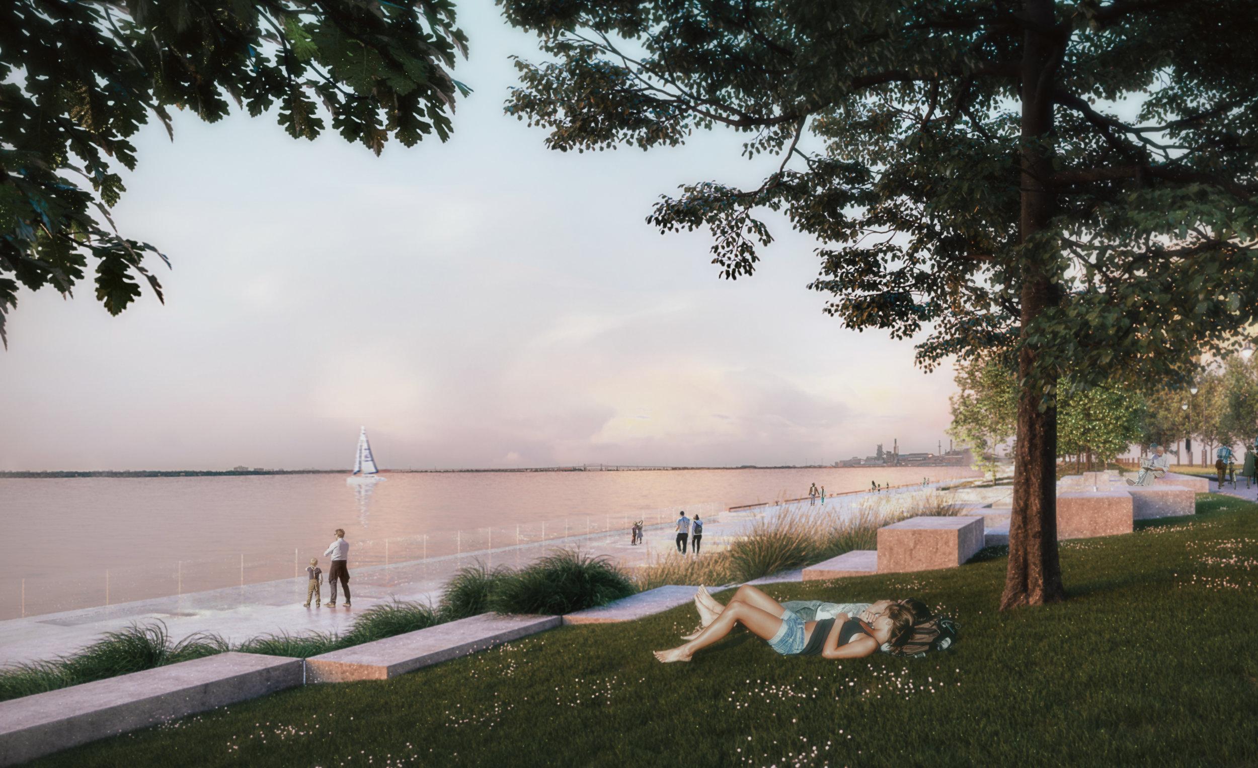 Pier 8 Promenade Park - Picnic Lawn Area
