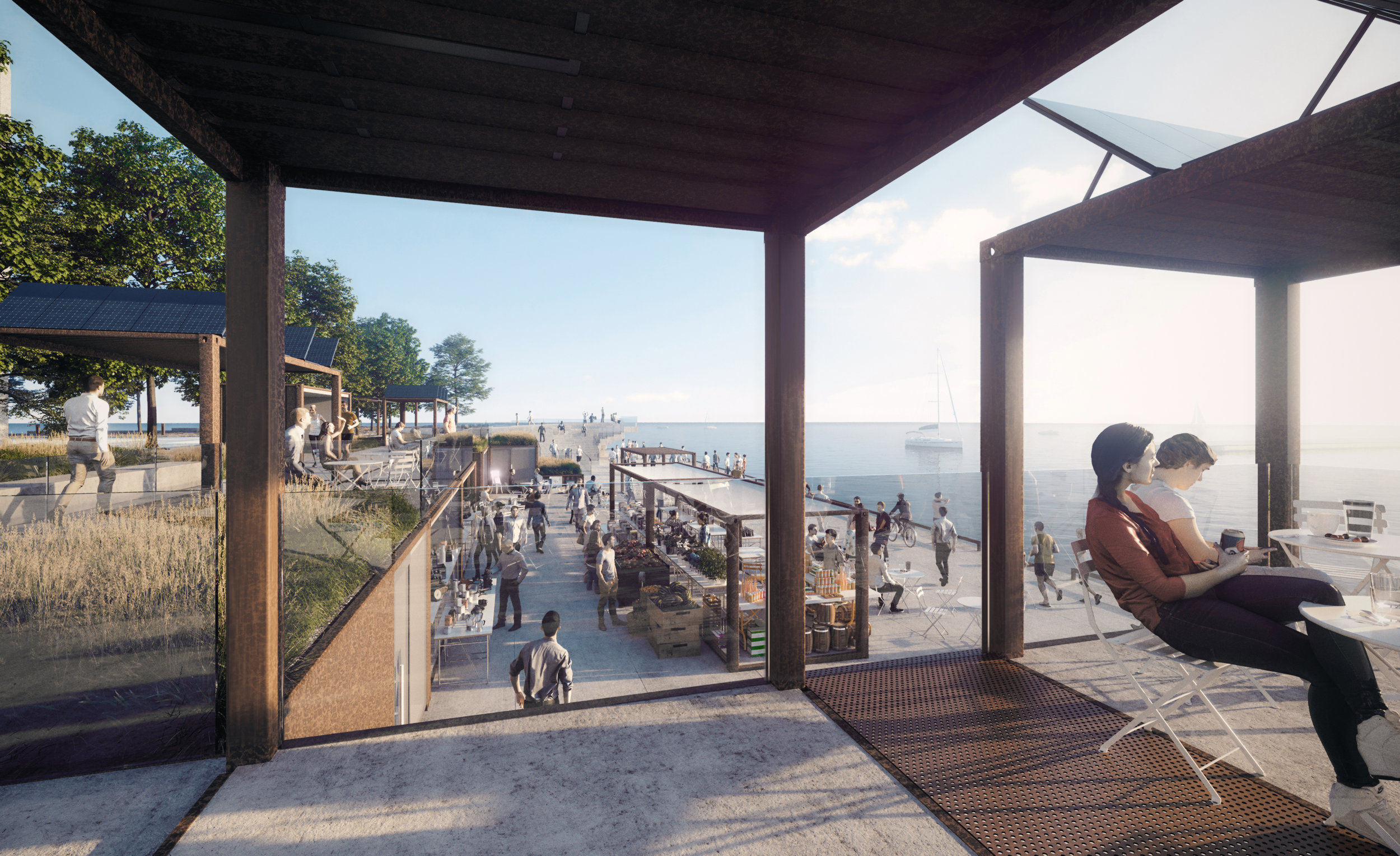 Pier 8 Promenade Park - Shipping Container Village Market