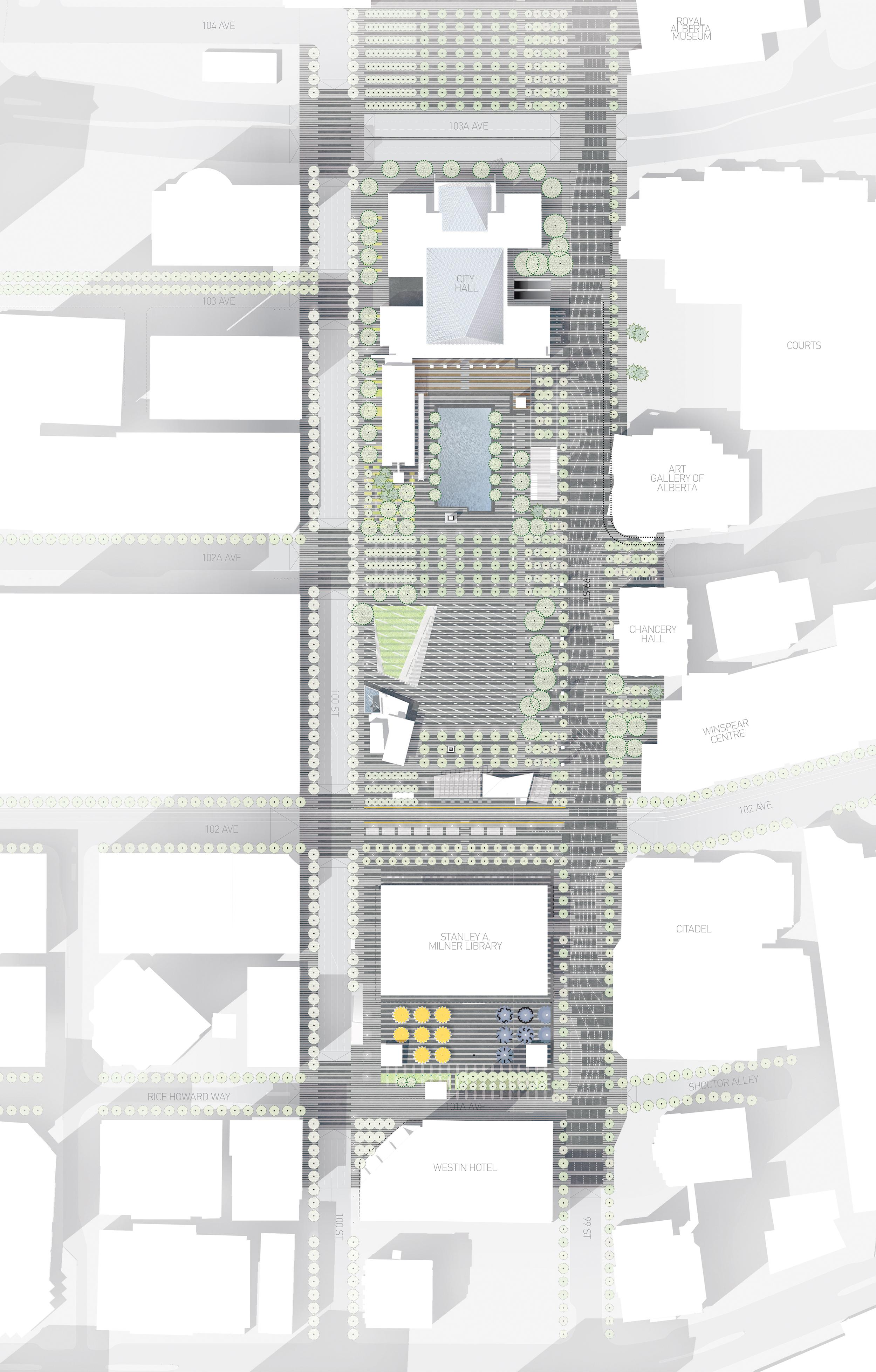 Edmonton Civic Precinct Master Plan - Full Plan Drawing