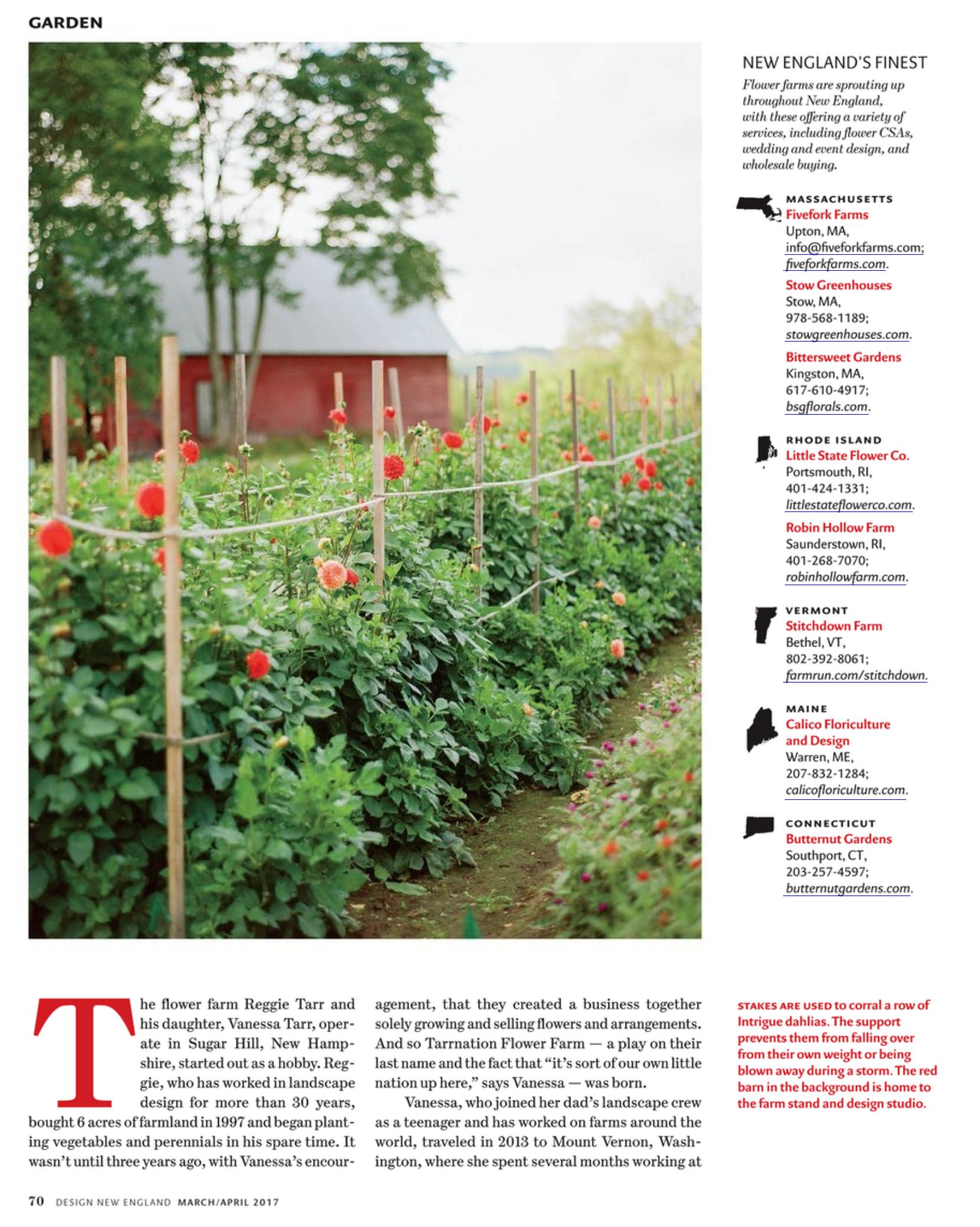 Stitchdown Farm in New England Design Magazine