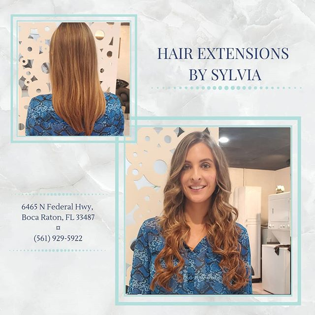 SWIPE for tons of extra photos! I had such a great time with this new #hairextension install and I hope you all love it as much we do!