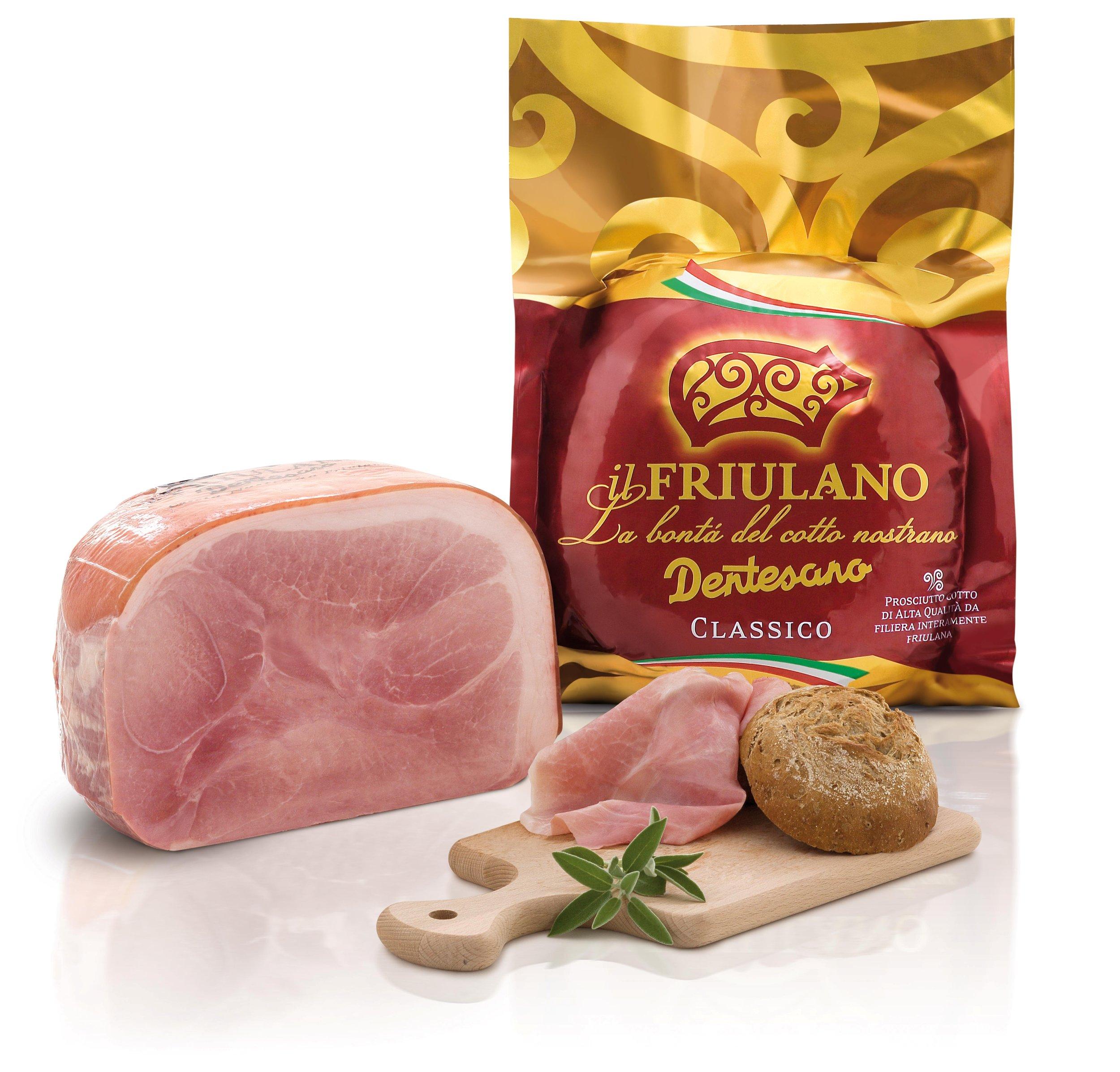 Il Friulano Genuino - Prosciutto cotto alta qualità fatto con soli 4 ingredienti certificati da filiera AQuA