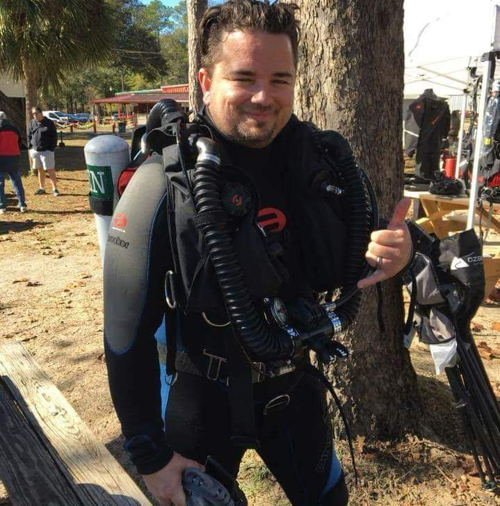 Matt MaynardDivemaster - Matt began diving in 2017 after his wife signed him up for his birthday. After quickly developing a passion for it he decided that he wanted to help share the experience with others. All of his certifications from an Open Water Diver to Divemaster were done through Southern Dive Center. He is a former United States Marine who now works full-time for one of the largest cell tower companies in the world. You will see him working your certification classes and leading various dive trips including shark feeding dives down in south Florida.