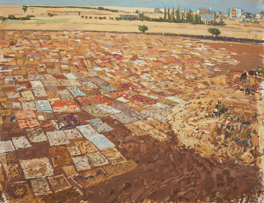 Carpets, 2014, oil on canvas, 75.5x90 cm, private collection, Herzliya