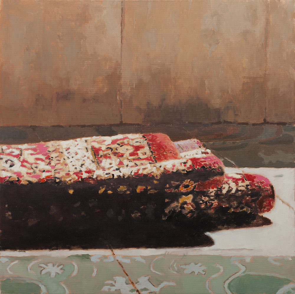 Folded Carpet, 2013, oil on canvas, 80x80 cm, private collection, Tel Aviv