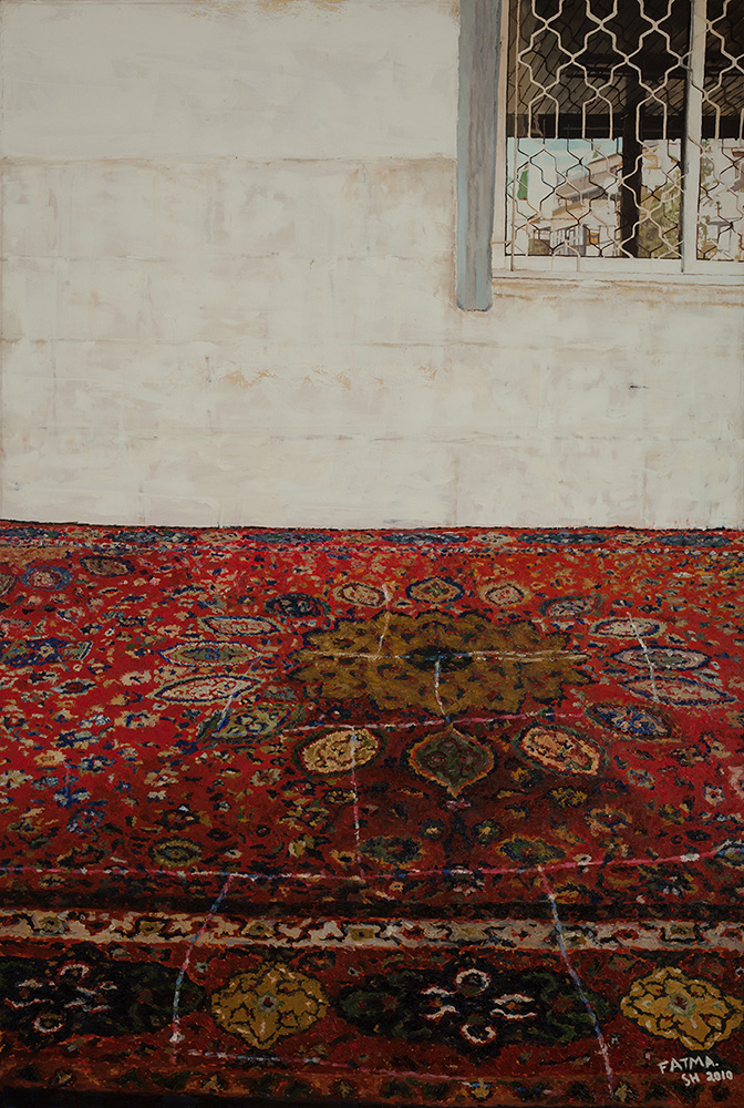 Carpet and Window, 2010, oil on canvas, 150x100 cm, private collection, Isreal