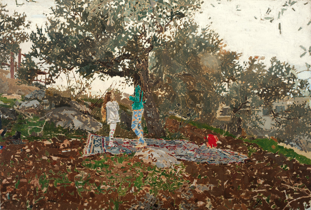 Maya, Lara, and Tamir, 2014, oil on canvas, 47x70 cm,private collection, Tel-Aviv