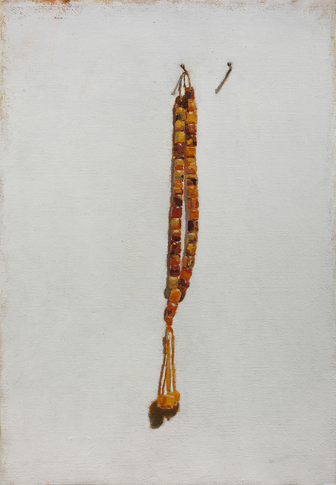 Misbaha #4, 2013, oil on canvas, 35x25 cm, private collection, Israel