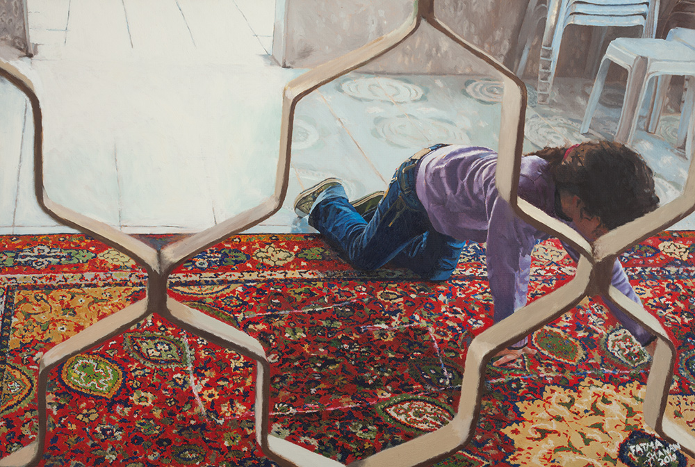 Manar #2, 2010, oil on canvas, 80x100 cm, private collection, Israel