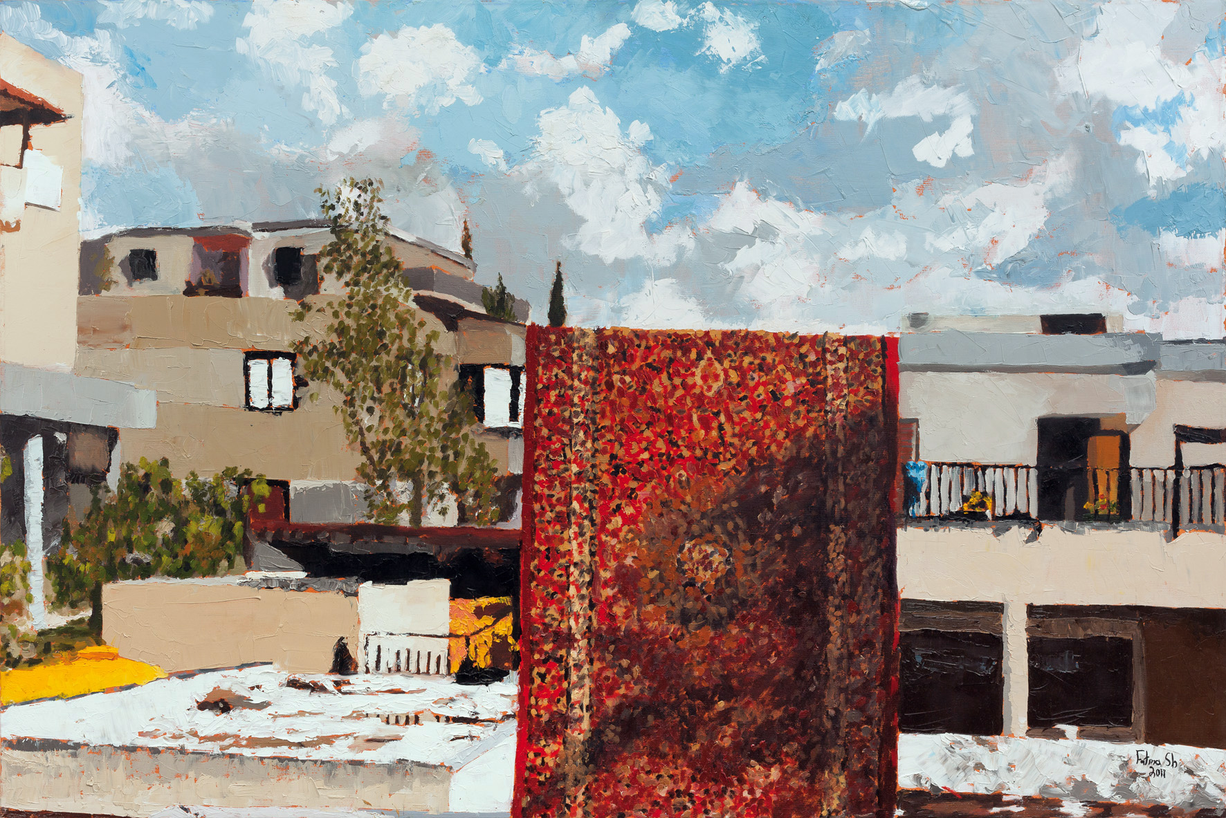 Hanging Carpet, 2011, oil on canvas, 80x100 cm, private collection, USA