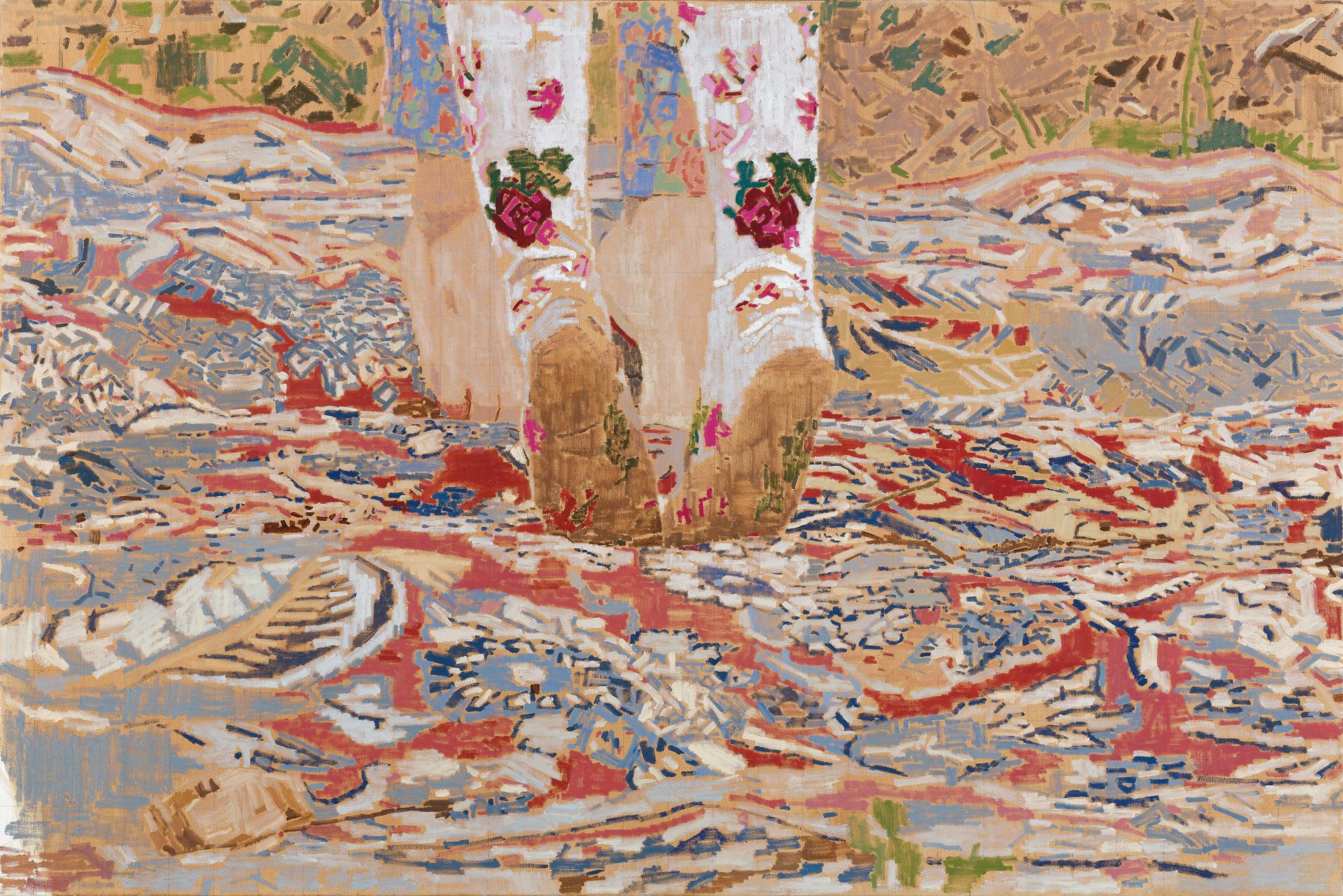 Lara, 2017, oil on canvas, 100x150, Ann and Dr. Ari Rosenblatt Collection, USA