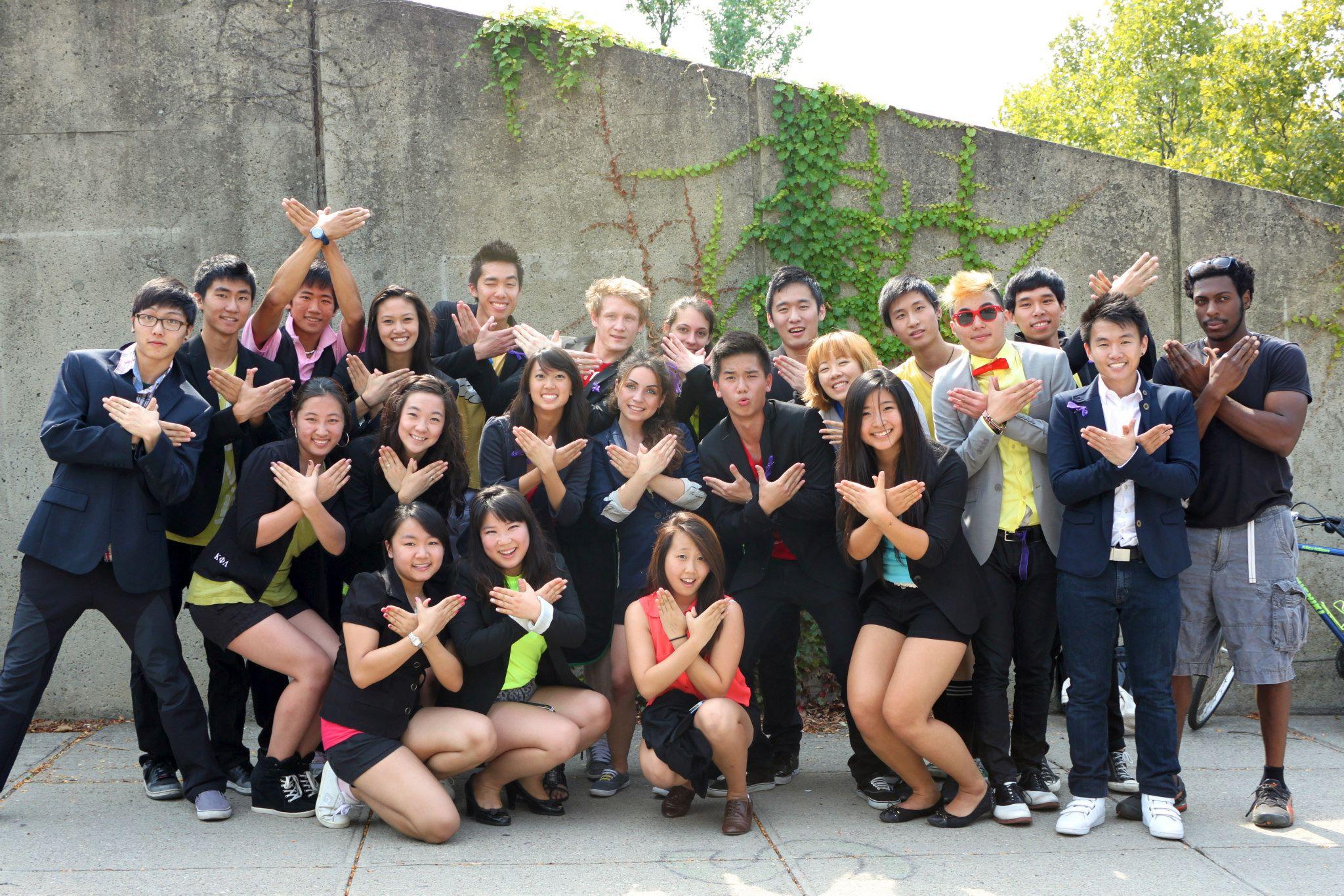 The whole crew, pre-flash mob!