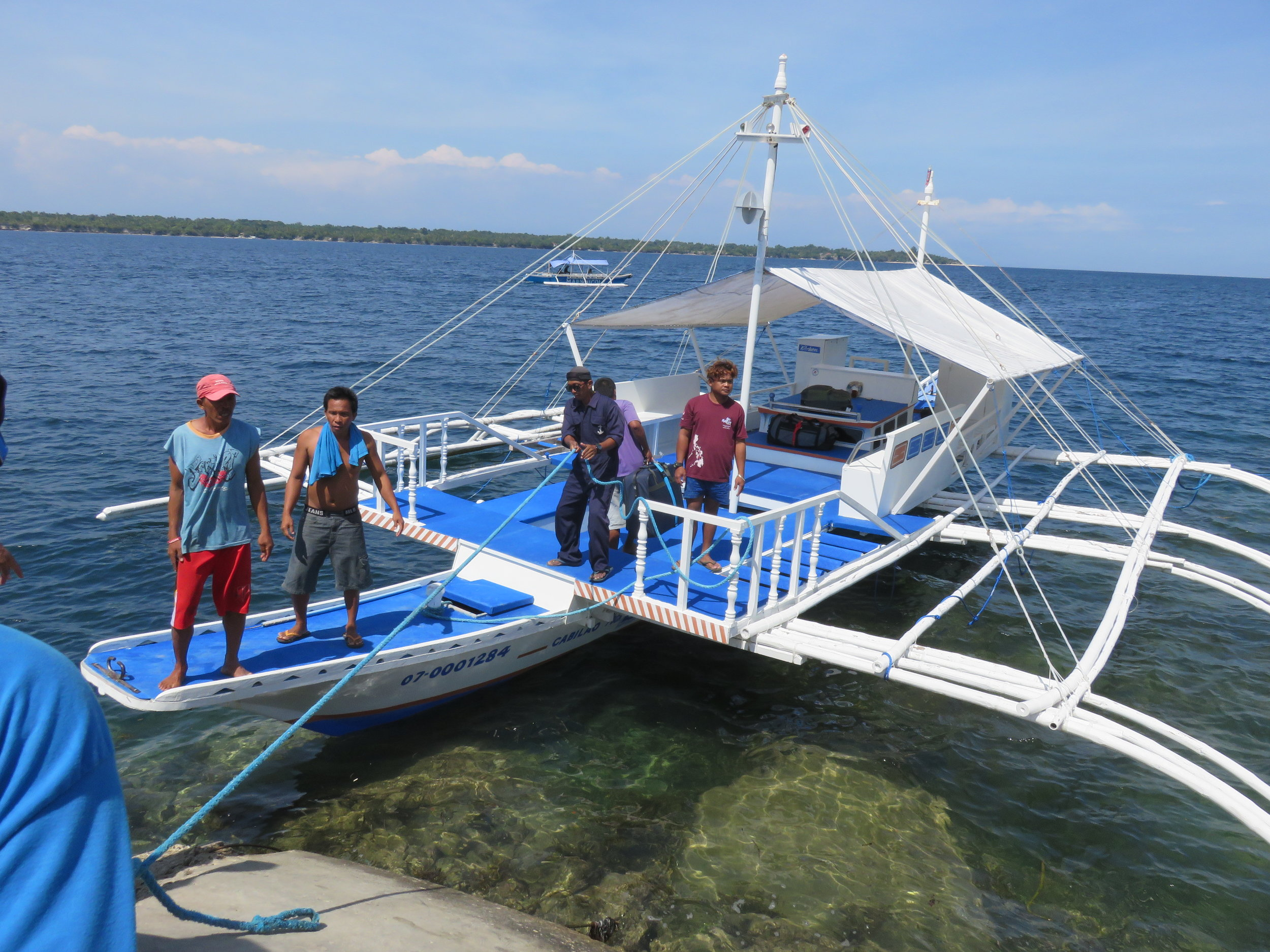 One of our dive boats in the Philippines