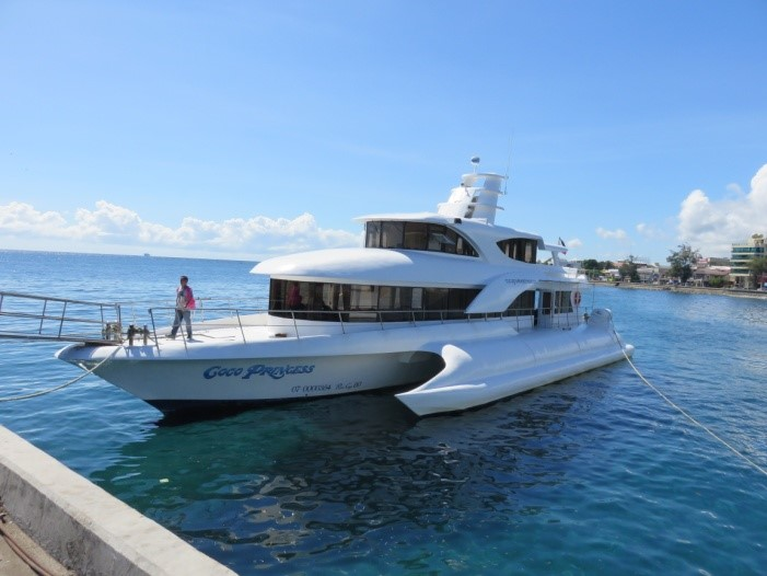 Mike Butler's private ferry, our transport to Siquijor Is.