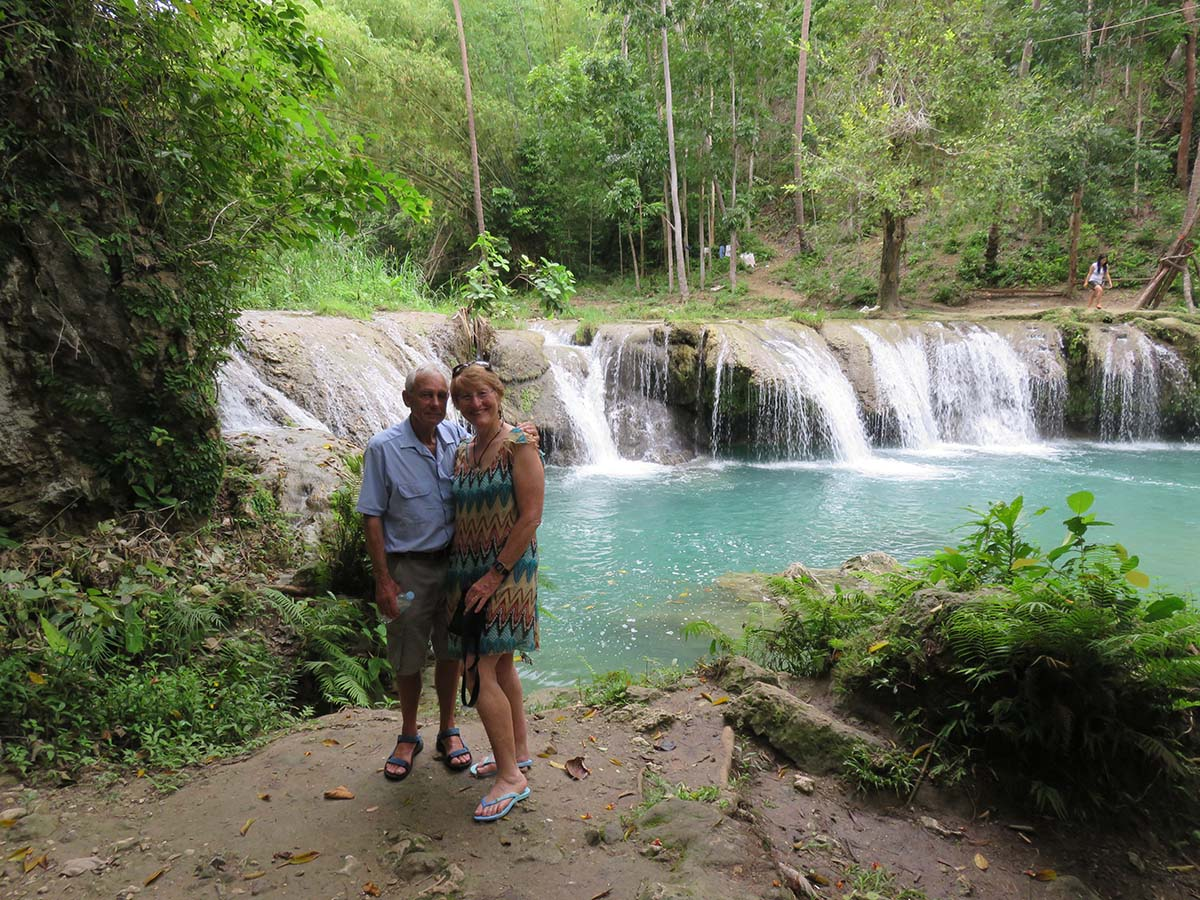 Part of the Cambugahay Waterfalls on Siquijor Island