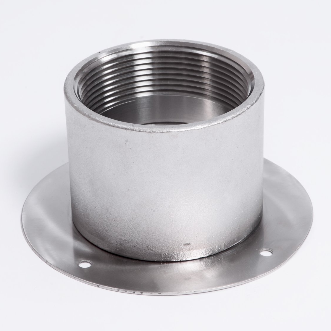 FPT Coupler: Threaded stainless steel connection.