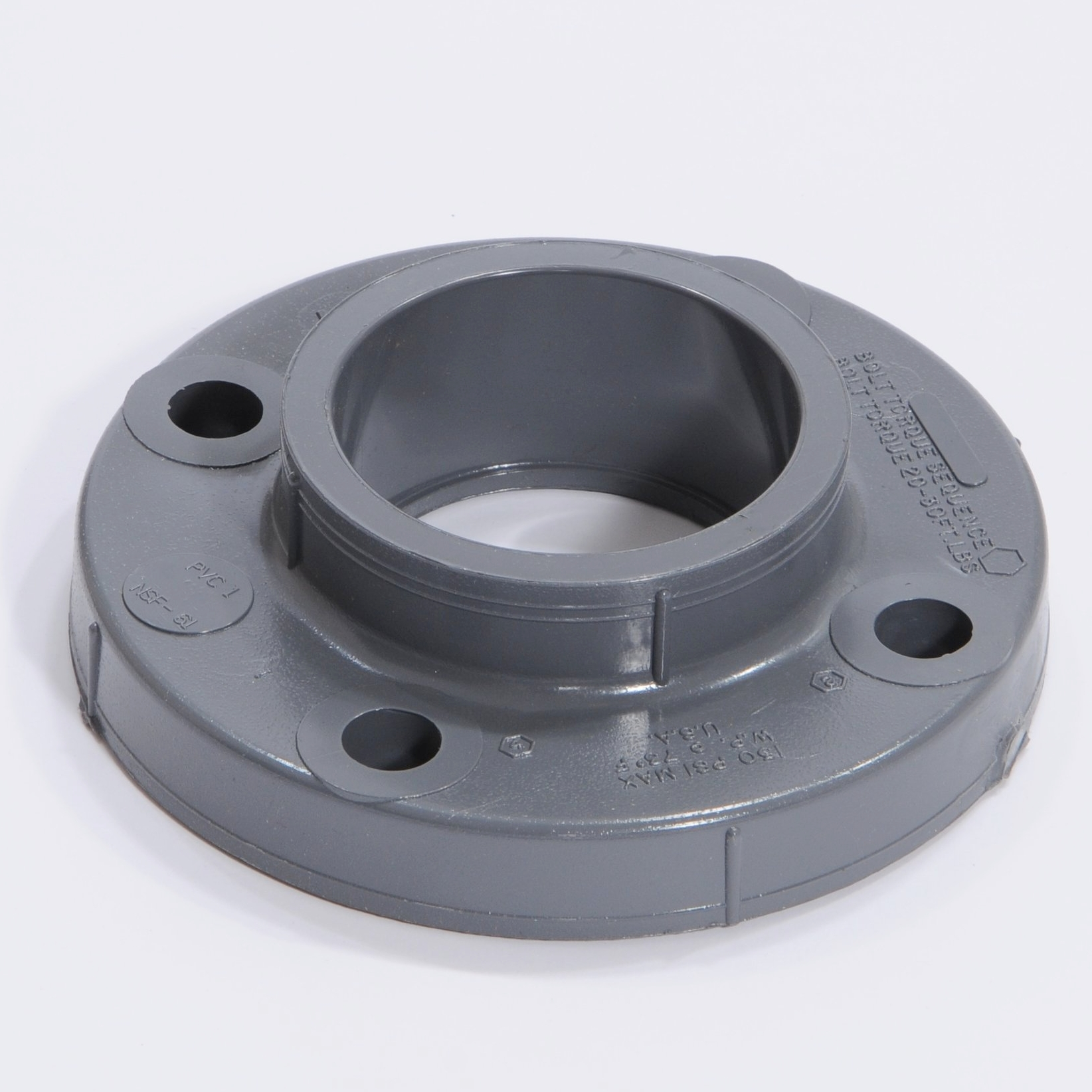 PVC Flange:  Chemical and corrosion resistant.