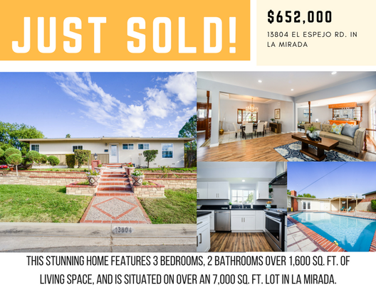 IN JUST 8 WEEKS - On Market: 09/19/2017 (Staged)Offer Accepted: 09/30/2017(4 offers Received)Closed: 10/31/2017Sold at: $652,000 ($37K Above Asking)