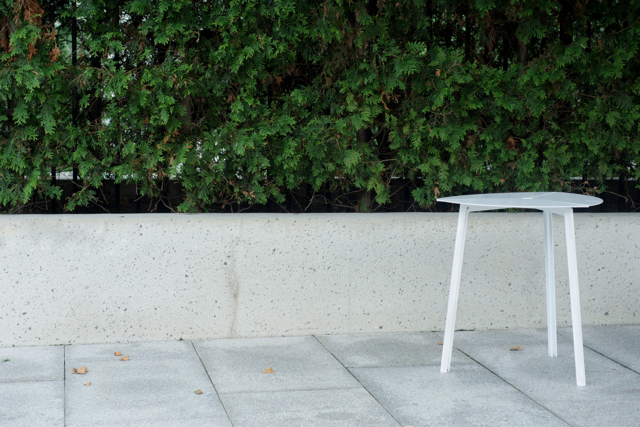 Third Bistro Table - White, Modern Outdoor Furniture.