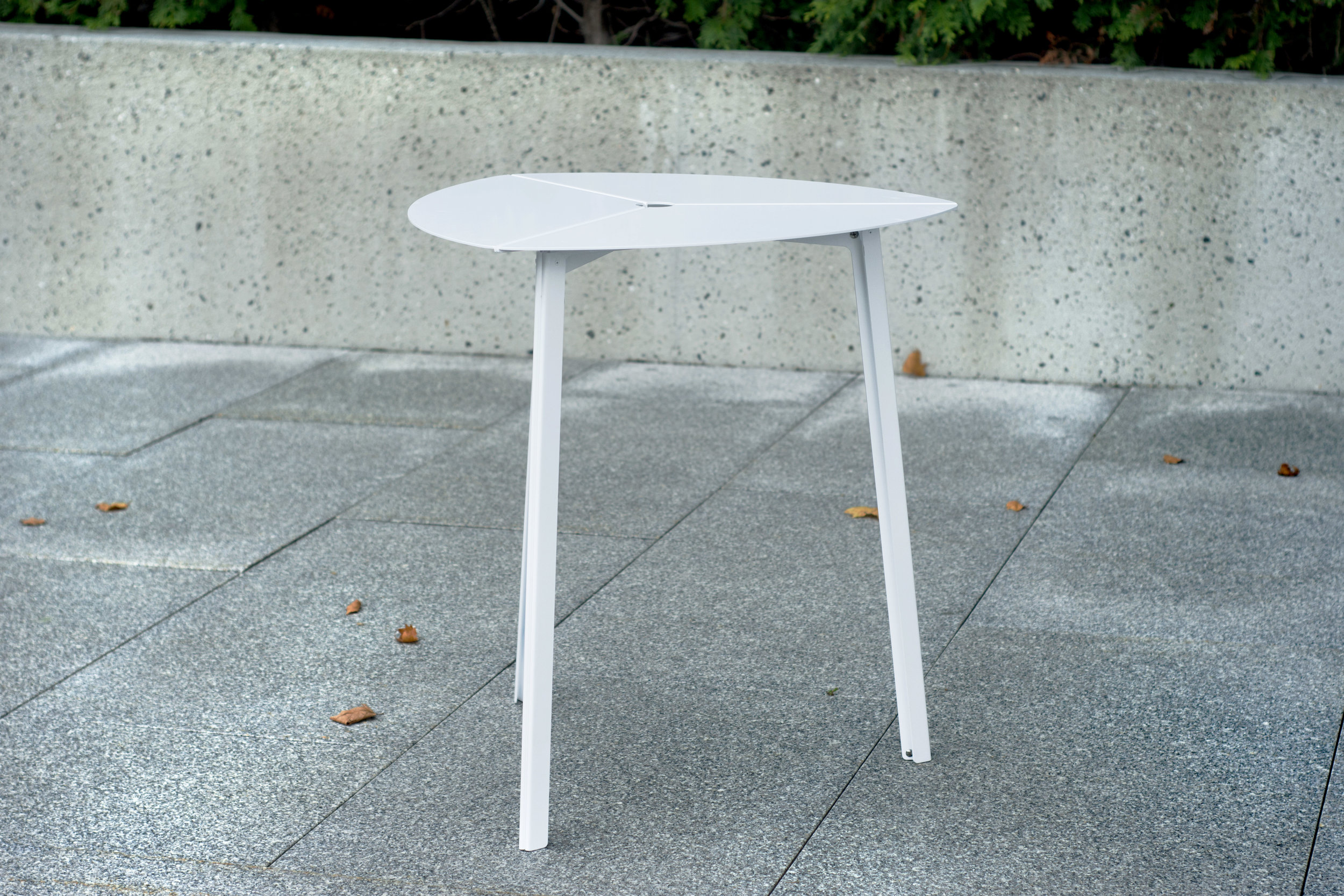 Third Bistro Table - White, contemporary patio furnishing, restaurant seating