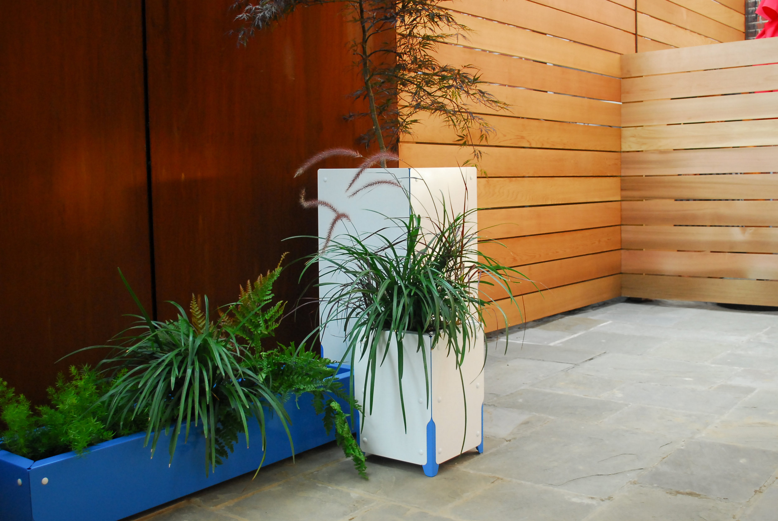 Bolton Tall Planter, Urban Modern Design Luxury Planter, Tree Planter